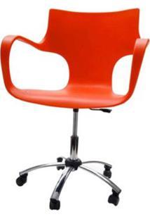 Cadeira Jim Base Giratoria Cromada Cor Vermelho - 22593 - Sun House