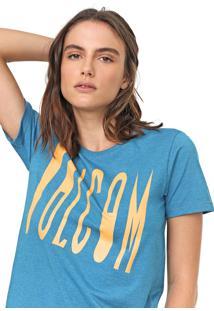 Camiseta Volcom Mix A Lot Azul