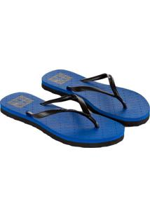 Chinelo Calvin Klein Jeans Re Issue Azul Carbono - 35/36