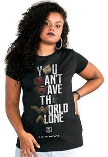 Camiseta Liga Da Justiça Dc Comics You Can'T Save Color Bandup! Feminina - Feminino