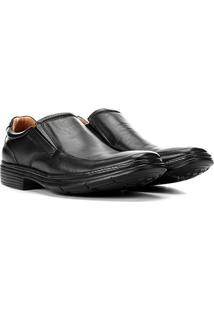 Sapato Conforto Anatomic Gel Ultra Leve Masculino - Masculino-Preto
