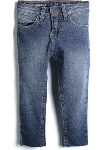 Calça Jeans Calvin Klein Kids Menina Lisa Azul-Marinho