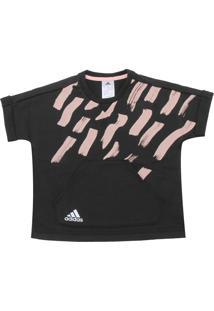 Camiseta Adidas Menina Outras Preta