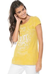 Camiseta Fiveblu Junk Gypsy Amarela