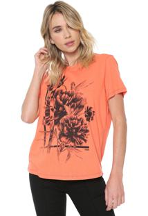 Camiseta Forum Floral Laranja