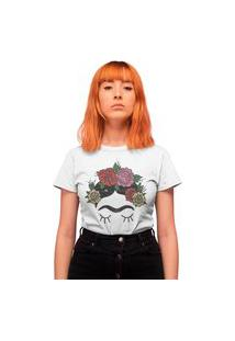 Camiseta Feminina Mirat The Flowers Branca