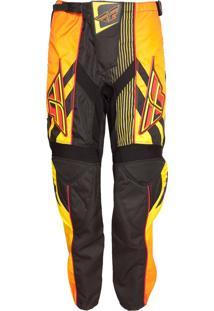 Calça De Motocross Fly Racing F-16 S13 Laranja