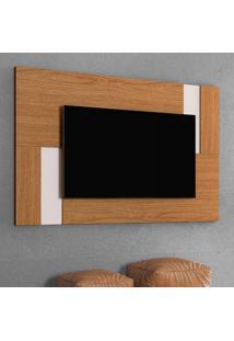 Painel Extensível Para Tv Até 55 Polegadas Delfos Marrom E Off White
