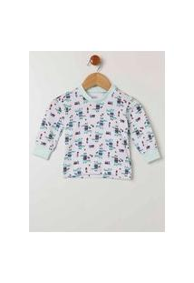 Pijama Infantil Para Bebê Menino - Verde