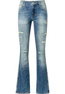 Amapô Calça Jeans New Boot Cut London - Azul