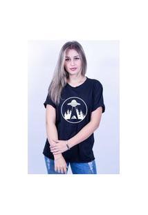 Camiseta Bilhan Corte A Fio Nave Gde Preta
