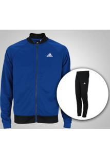 Agasalho Adidas Cosy - Masculino - Azul/Preto