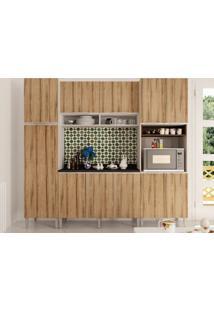 Cozinha Com Balcão, Aéreo, Paneleiros Essence Desira/Trufa-Aroma