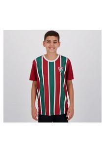 Camisa Fluminense Change Infantil Grená E Verde