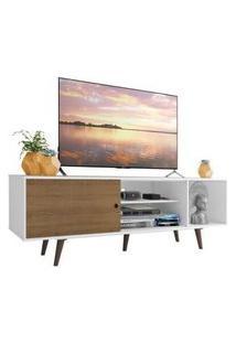 Rack Madesa Dubai Para Tv Até 65 Polegadas Com Pés Branco/Rustic/Rustic Branco
