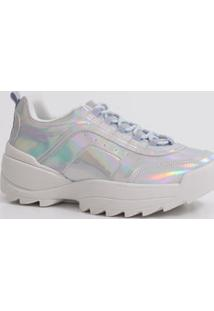 Tênis Feminino Chunky Sneaker Holográfico Tratorado Zatz