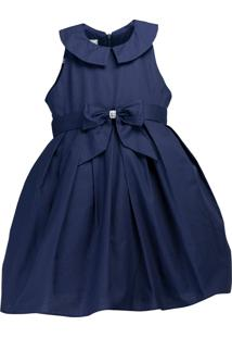 Vestido Pipoca Doce Liso Azul