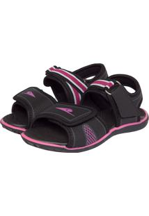Papete Klin Infantil Velcro Preta/Rosa