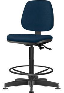Cadeira Job Assento Crepe Azul Base Caixa Metalica Preta - 54541 Sun House