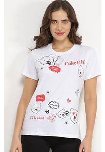 Camiseta Coca-Cola Coke Is It Feminina - Feminino-Branco