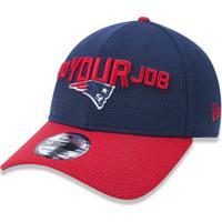 3f62ee0ac3896 Boné New Era 3930 New England Patriots Aba Curva Azul