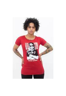 Camiseta Feminina Verse Rihanna Man Down Vermelho