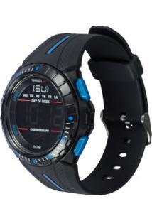 Relógio Digital Speedo Esportivo 81162G0 - Unissex - Preto/Azul