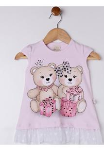 Conjunto Infantil Para Bebê Menina - Rosa/Azul