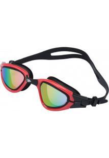 Óculos De Natação Mormaii Athlon - Adulto - Preto/Vermelho