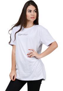 Camiseta Estampada Minimal Algodão Part.B Branca