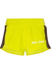 Palm Angels Short Esportivo Chenille - Verde
