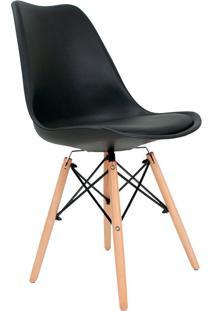 Cadeira Eames Saarinen Leda Preta