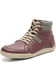 Bota Casual Masculina Shoes Grand 801/3 Vinho - Cinza - Kanui