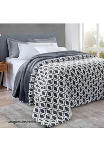 Edredom Islândia Home Design Queen Size- Cinza Escuro & Corttex
