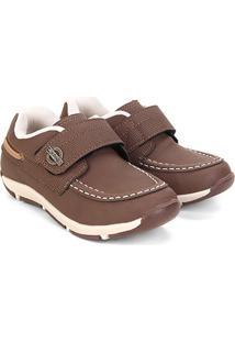 Sapato Infantil Klin Outdoor Masculino - Masculino-Marrom Claro