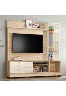 Estante Para Home Theater E Tv Até 58 Polegadas Malta Macchiato E Off White