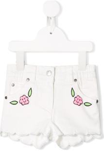 Stella Mccartney Kids Floral Print Denim Shorts - Branco