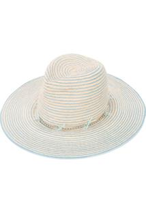 Gigi Burris Millinery Striped Hat - Neutro