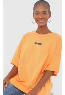 Camiseta Colcci Lettering Laranja - Laranja - Feminino - Algodã£O - Dafiti