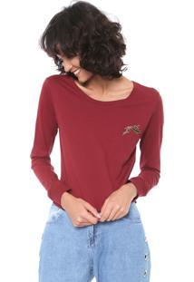 Camiseta Rusty Gothic Vinho - Vinho - Feminino - Dafiti