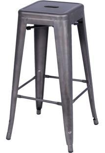 Banqueta Retrô- Bronze- 77X41,5X41Cm- Or Designor Design