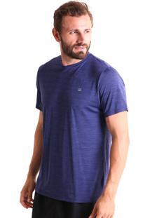Camiseta Liquido Básica Mescla Boy - Azul Marinho