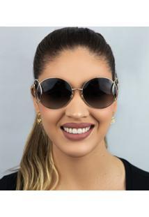 Óculos De Sol Feminino Chloé Ce124S 744 60 Dourado