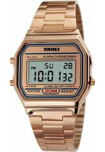 Relógio Skmei Digital 1123 - Feminino-Dourado