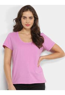 Camiseta Colcci Básica Feminina - Feminino-Lilás