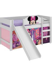 Cama C/Escor Minnie Disney Play Branco Pura Magia