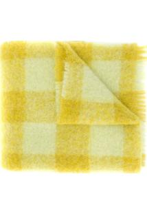 Acne Studios Cachecol Xadrez - Amarelo
