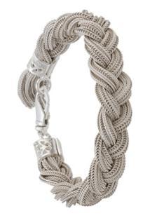 Emanuele Bicocchi Bracelete De Corda - Branco