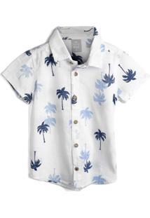 Camisa Hering Kids Menino Estampa Branca