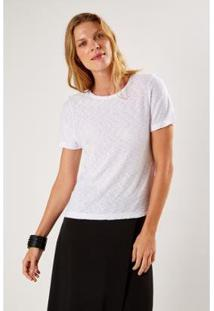 T-Shirt Malha Básica Flame Sacada Feminino - Feminino